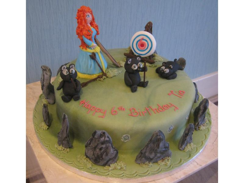 Brave  - themed cake for Tia's 6th birthday, living in Rochdale