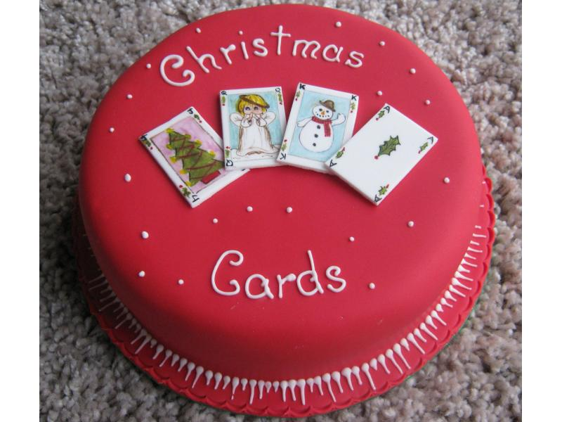 Christmas Cards fruit cake for Peter in Salford