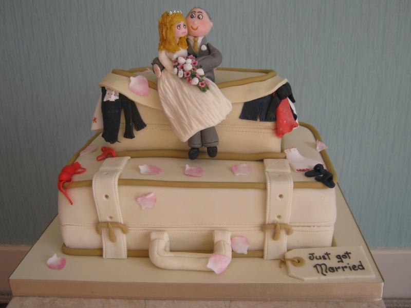 Luggage - Wedding Cake with a difference for David and Sharon - Libertys Hotel, Blackpool