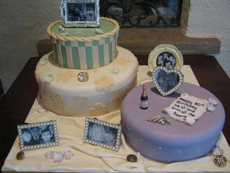Memories in fruit and sponge cakes to commemorate Mum's 80th birthday in Wrea Green