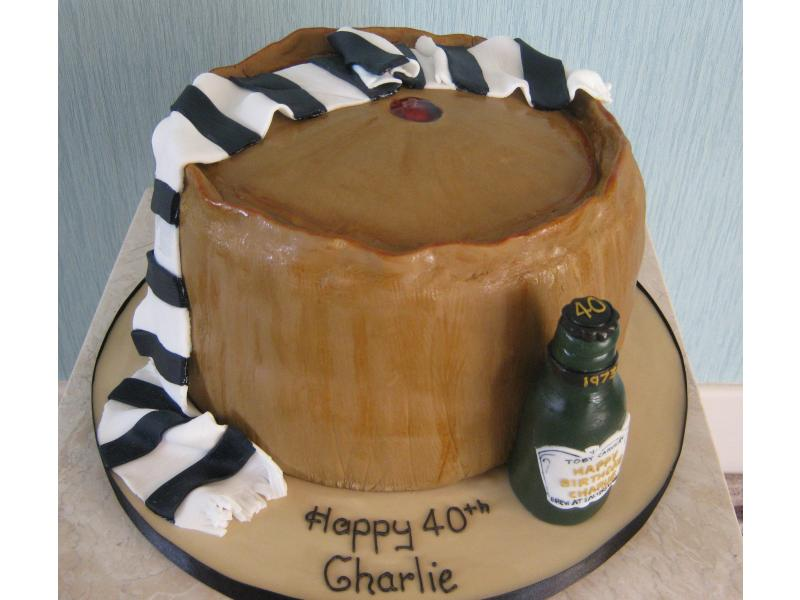 Pork Pie for a pie, Preston North End fan and lover of real ale in sponge and sugerpaste for Charlie in Chorley
