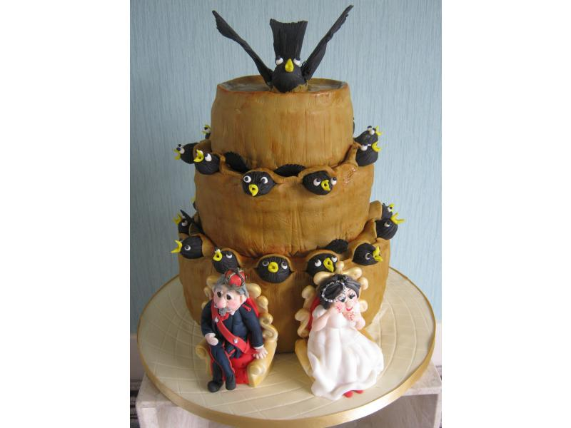 Wedding Cake for couple in Newcastle quirky in fruit cake and sponge cakes