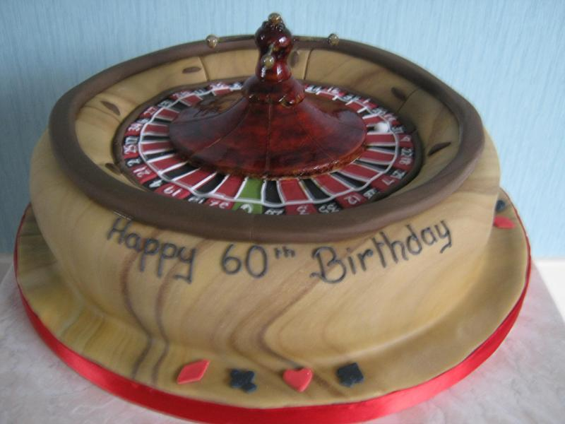 Roulette Wheel for Jim's 60th birthday in Preston made from chocolate sponge