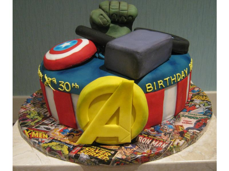 Marvel Heroes - for a super heroes fan from Preston in vanilla sponge