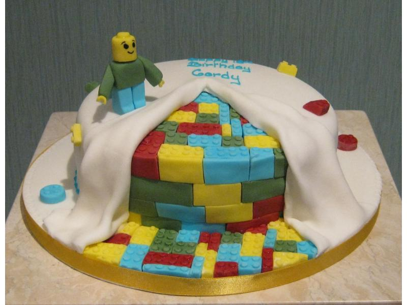 Lego - Lego themed chocolate sponge cake for Cordy in Weeton