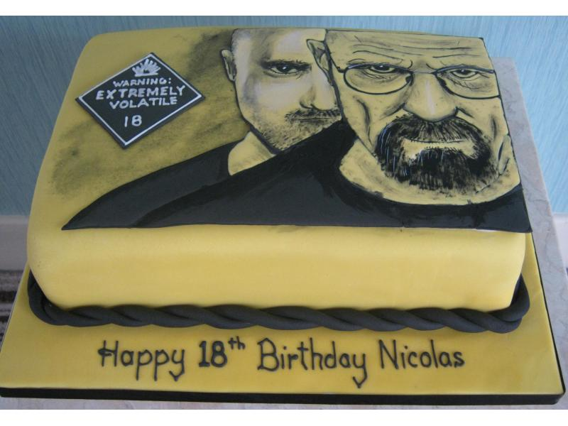 Breaking Bad in chocolate sponge for Nicolas' 18th in Rossall