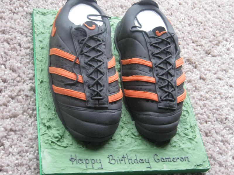 Football Boots for cameron's birthday in Lytham made in Madeira sponge