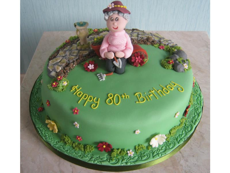 Gardening Grandma for a green fingered 80 year old in St Annes from vanilla sponge