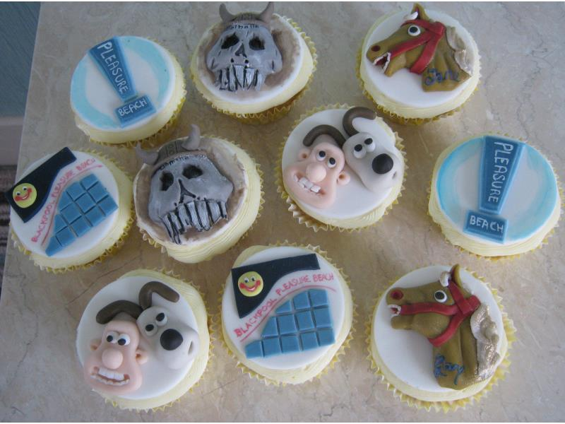 Blackpool Pleasure Beach themed sponge cupcakes from Alex in Isle of Man