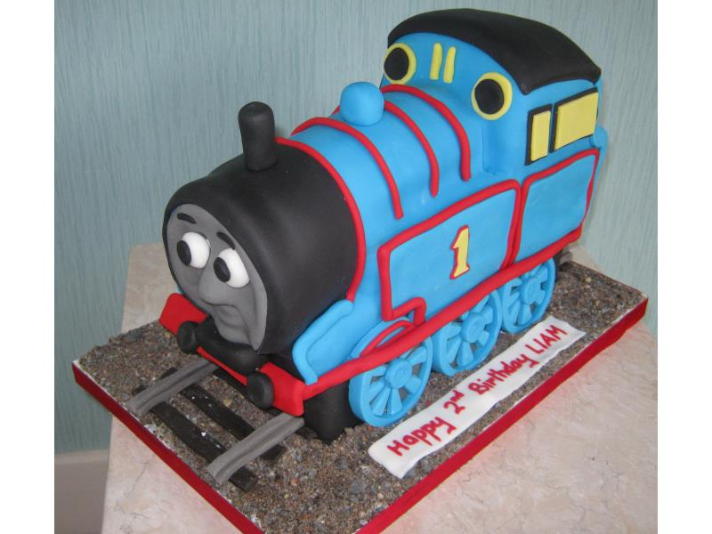 Thomas the Tank Engine for Liam's 2nd birthday in Blackpool from vanilla sponge