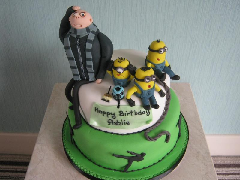 Despicable Me with Minions cake in lemon sponge for Ashlie's birthday in Blackburn