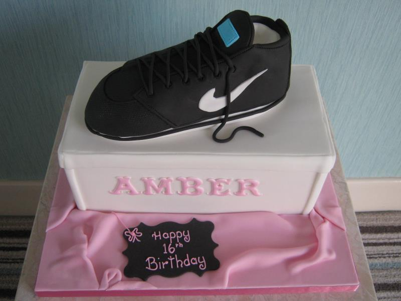 Nike trainer for Amber on her 16th birthday in #Preston. Made from Madeira sponge