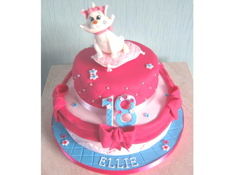 Aristocat cake for Ellie in #Thornton from Madeira and chocoate sponges to celebrate her 18th birthday