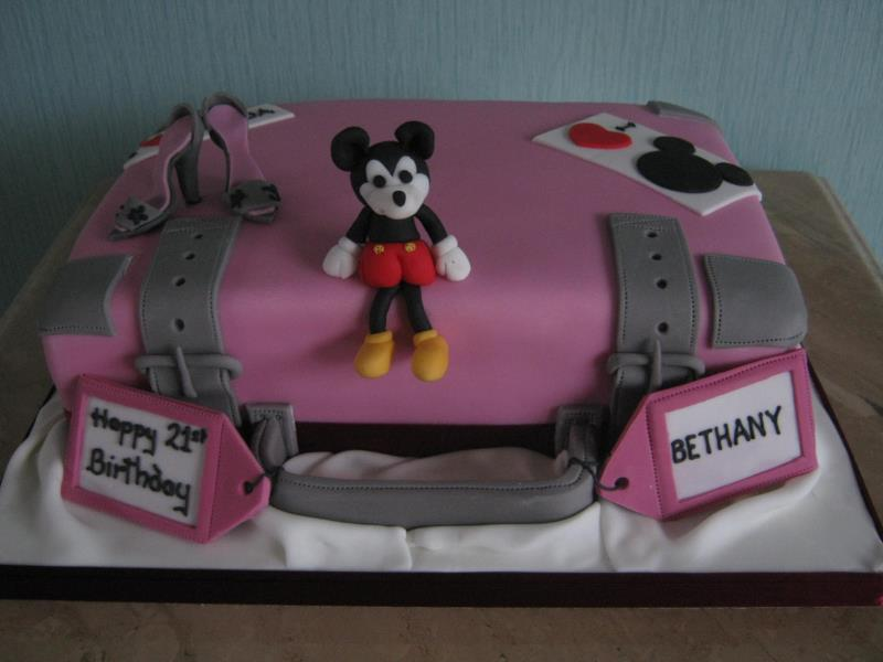 Minnie Mouse on holiday for 21st birthday in Thornton- Cleveleys made from plain sponge