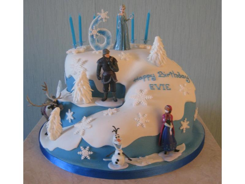 Frozen Birthday Cake Blackpool