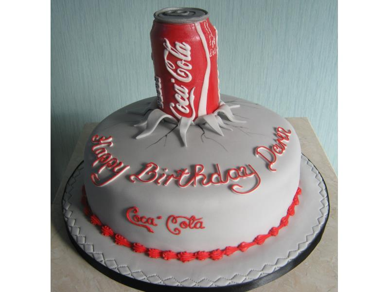 Daren who loves drinking Coca Cola, but love eating this one in chocolate sponge