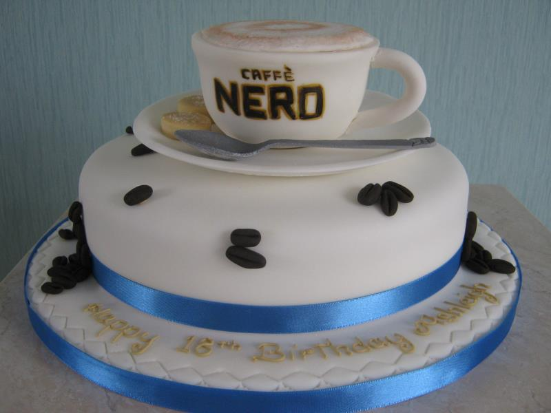 Frappe from Caffe Nero for Ashleigh's 18th in St Annes, made in chocolate sponge