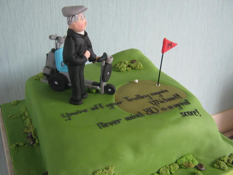 Golf buggy for golf fanatic Michael's birthday in Lancaster from fruit cake