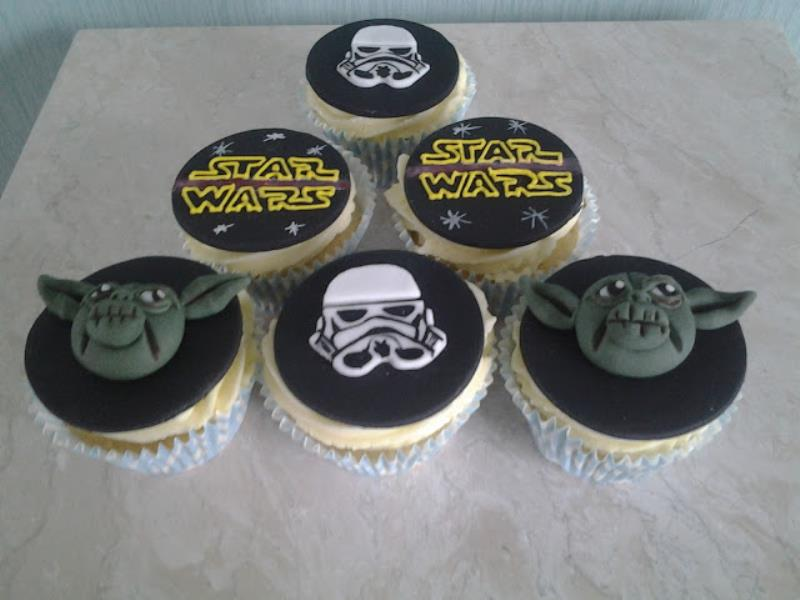 Star Wars - cupcakes in vanilla sponge for boyfriend's birthday in Blackpool