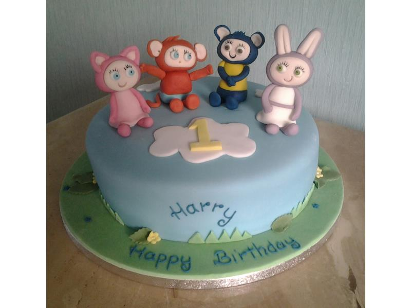 Waybuloo characters from Cbeebies in vanilla sponge fro Harry in Blackpool
