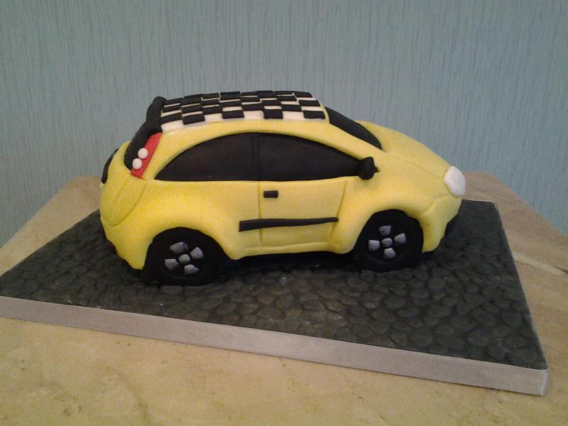 Ford Fiesta 3D cake in chocolate sponge for Ashleigh's 21st birthday in Cleveleys