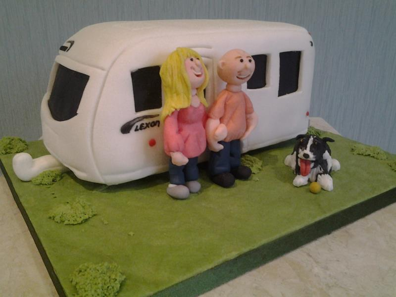 Lexon caravan made from lemon sponge for caravaning family in Blackpool