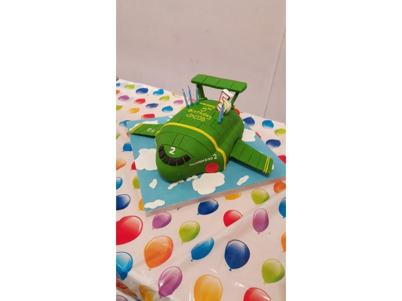 Thunderbird 2 - green Thunderbird in chocolate sponge for Jacob's 5th birthday in Lytham St Annes