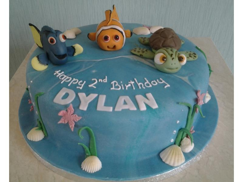 Nemo with Dory and Squirt for Dylan's 2nd birthday in Lytham, made from Madeira