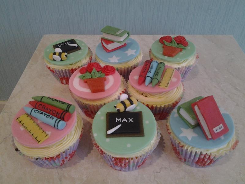 Teach gift cupcakes for Max and evie in Bispham made from plain sponge
