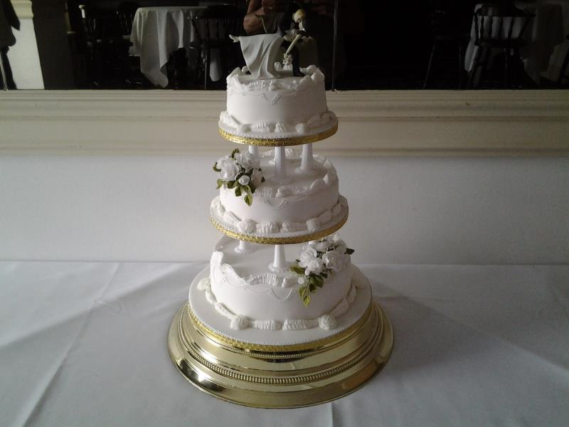 Hannah-Beth - traditional 3 tier wedding cake in sponges and fruit cake for Hannah-Beth's & James' wedding at the Imperial Hotel Blackpool.
