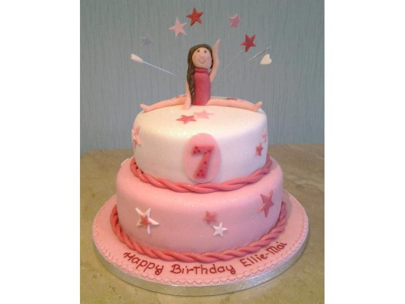Ballerina for Ellie-Mai in Cleveleys, made from chocolate and vanilla sponges