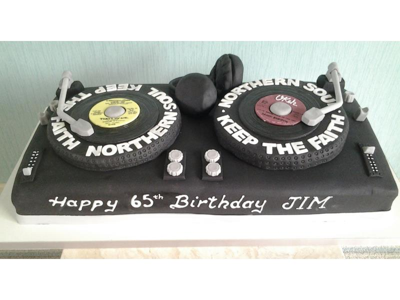 Northern Soul - Double DJ deck for Northern Soul fan Jim in Bispham, from chocolate sponge