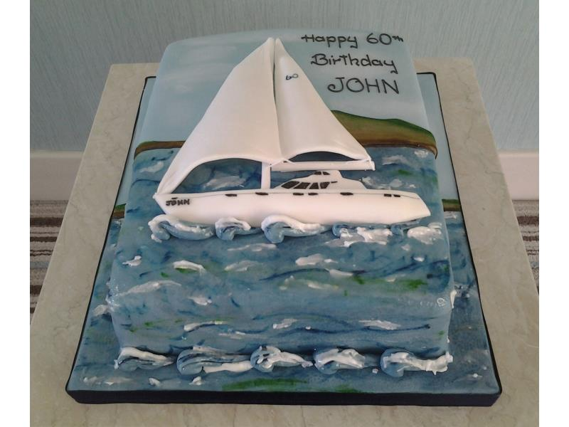 Yachting themed birthday cake in vanilla sponge for John in St Annes