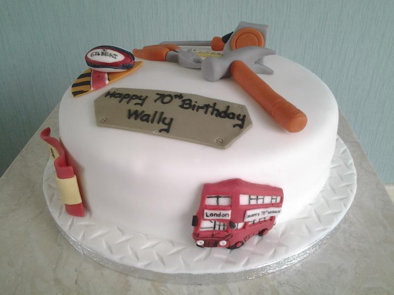 DIY - birthday cake for Fylde Rugby Club and DIY fan Wally in Lytham, made from