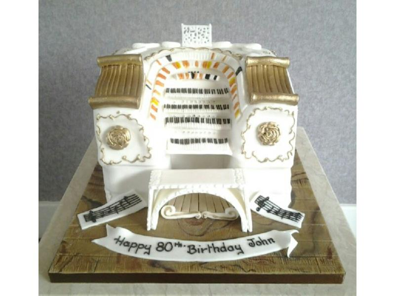 Wurlitzer Theatre Organ. Fruit cake modelled for organist and enthusiast John in Poulton