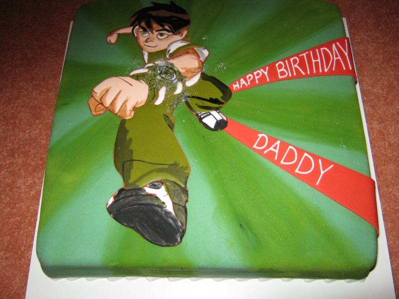 Ben 10 - Birthday cake made to order for Shauna of Layton, Blackpool