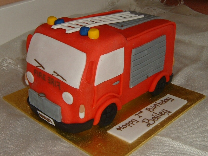 Fire Engine - 2nd birthday cake for Bailey, Blackpool
