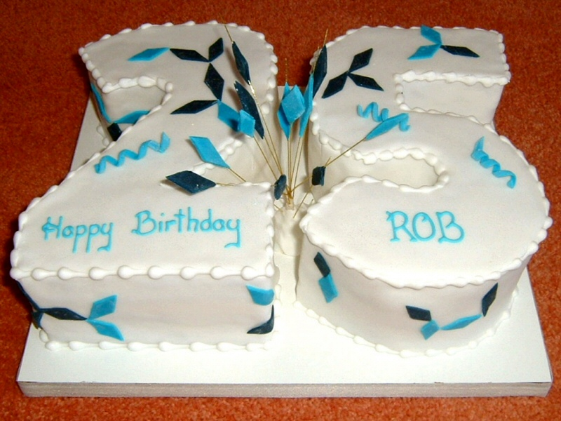 25th - Number shaped birthday cake for Rob, Poulton