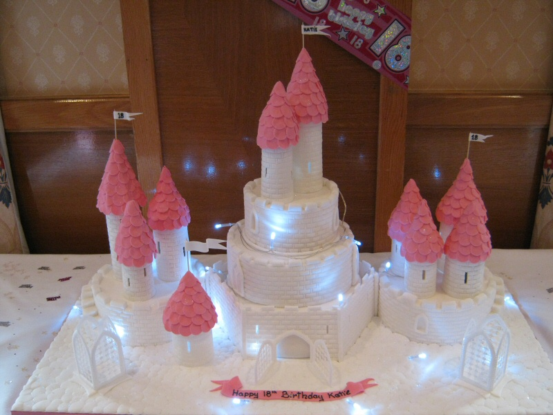 Katie - Princess fairytale castle cake with lighting for Katie's 18th, Cleveleys