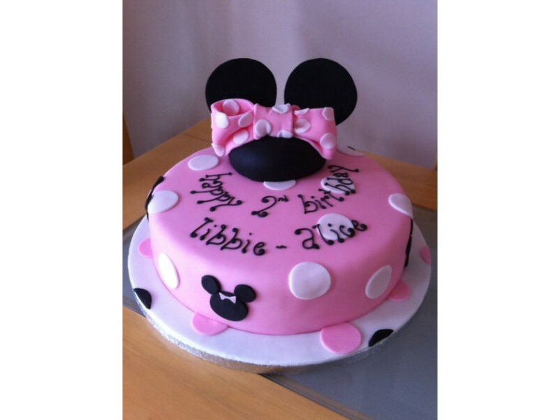 Libbie - Minnie Mouse Disney style 2nd birthday cake for Libbie of Bispham