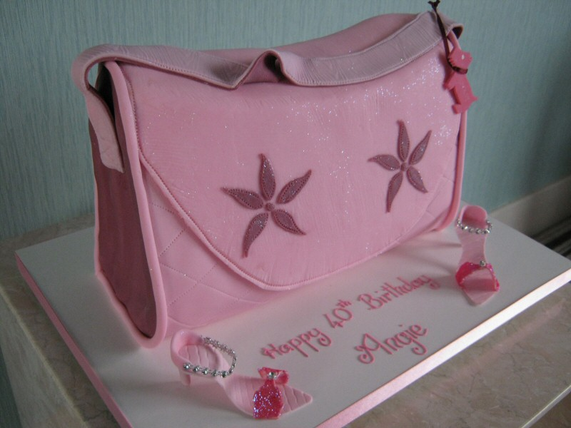 Angie - Radley handbag shaped cake for Angie's 40th birthday