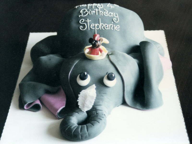 Stephanie - Disney Dumbo cake for Stephanie's 4th birthday, Fleetwood