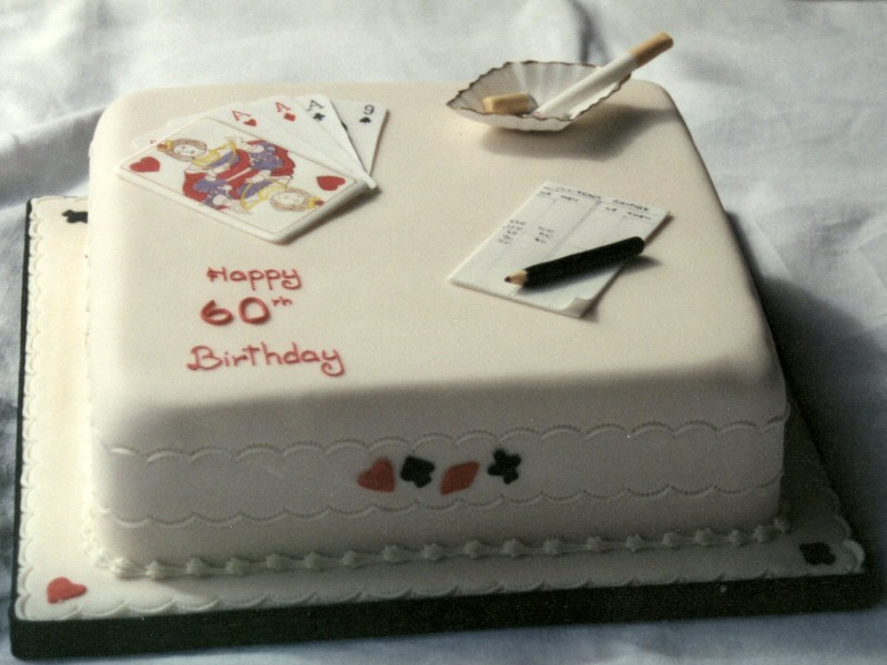 Playing Cards - 60th birthday cake for John of Kirkham