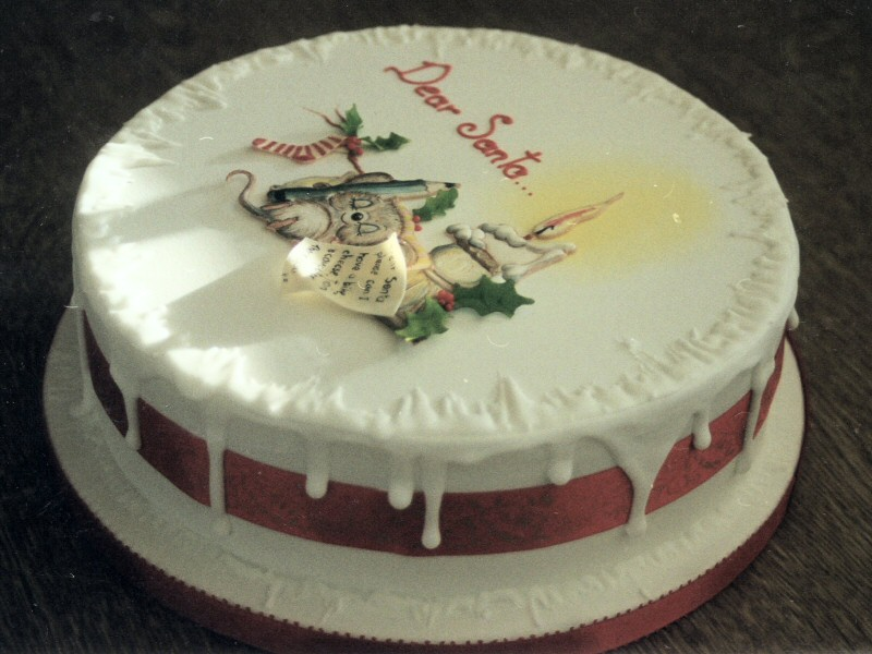 Dear Santa - Christmas cake for Jake and family, Lytham
