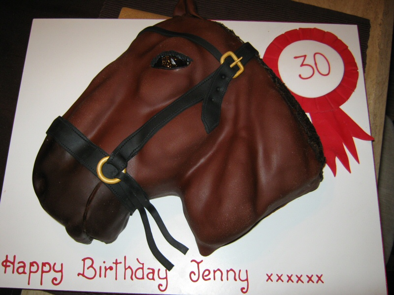 Jenny - 3D horse cake for the 30th birthday of a horse lover from Thornton-Cleveleys.