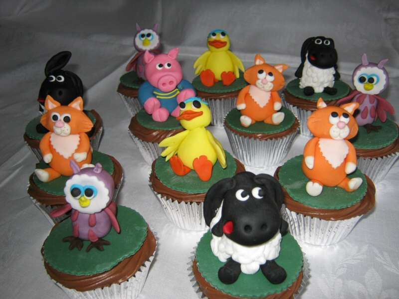 Timmy Time - Timmy Time cup cakes for Sue of St Annes.