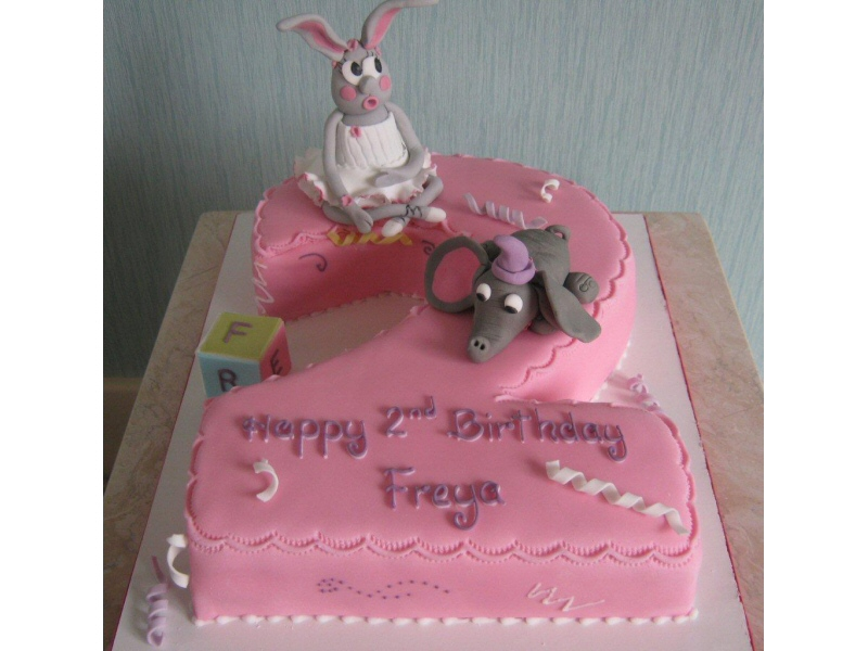Freya - Second birthday cake featuring children's characters for Freya of Marton, Blackpool.