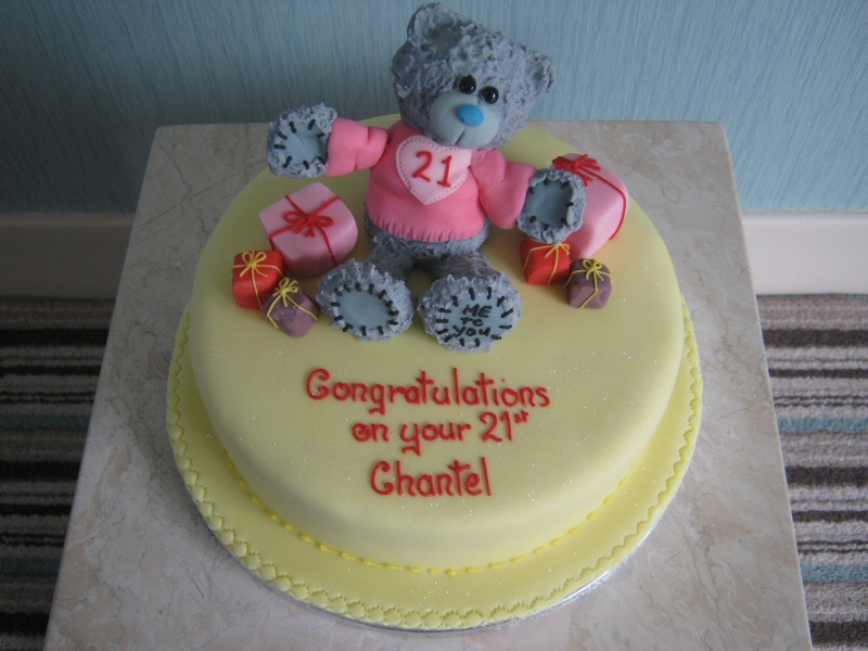 Me To You - 21st birthday cake for Chantel of Layton, featuring a Me To You bear.