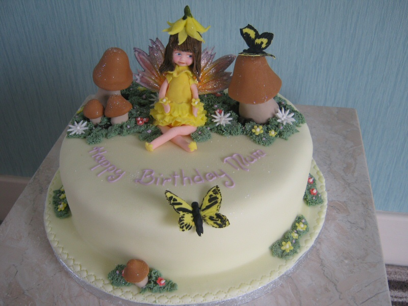 Fairy in a Garden - A fairy themed cake for mother Karen of South Shore, Blackpool.